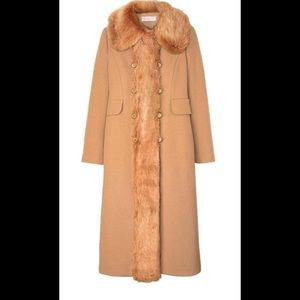 NEW Tory Burch Wool Coat with Fur